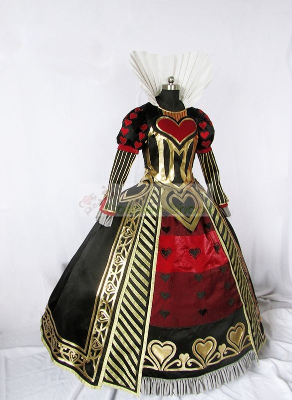 custom cheap alice  madness returns queen of hearts dress cosplay costume in alice  madness