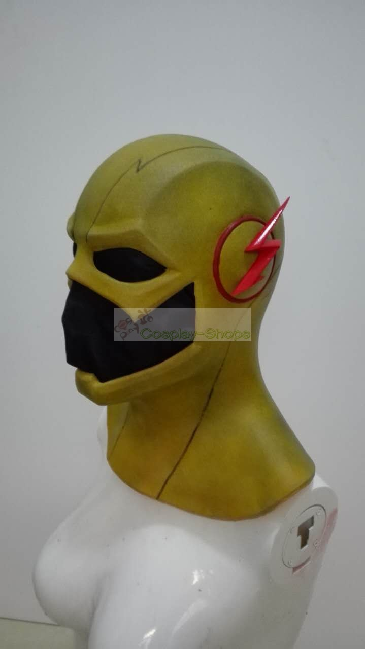 Reverse Due Date >> Custom Cheap CW flash tv series - The Flash Reverse Flash Cosplay Rubber Helmet Cowl In The ...