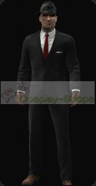 The Hitman Absolution Pinstripe Suit With Black Inside Cosplay Costume