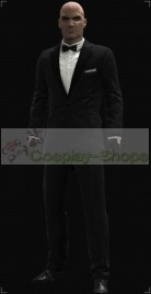 Hitman Absolution Suit With Bow Tie Cosplay Costume