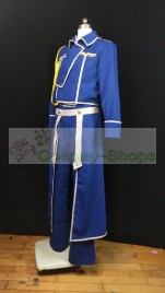 FullMetal Alchemist Roy Mustang Military Blue Cosplay Costume