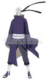 NARUTO Akatsuki Ninja Tobi Obito Madara Uchiha Purple Jacket Cosplay Costume