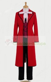 Black Butler Grell Sutcliff Cosplay Costume Wine Red