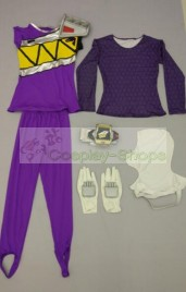Power Rangers Dino charge Purple Ranger Cosplay Costume