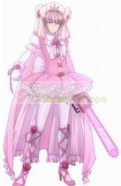 Kore wa Zombie Desu ka? / Is This a Zombie? Aikawa Ayumu 1000% Power Version Pink Cosplay Costume
