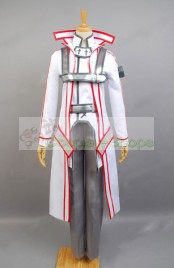 Sword Art Online SAO Knights of Blood Kazuto Kirigaya / Kirito Cosplay Costume