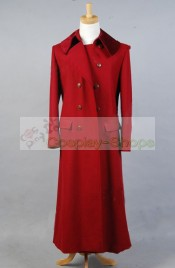 Doctor Who The 4th Fourth Dr Tom Baker Red Coat Cosplay Costume
