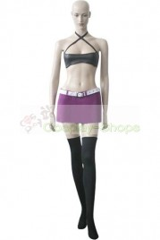 Fairy Tail Young Mirajane Cosplay Costunme Black and Pink