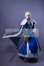 Fate/Stay Night Blue Saber Artoria Pendragon Armour Cosplay