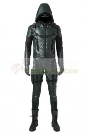 Arrow Season 5 Oliver Queen Green Arrow Cosplay Costume