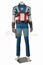Captain America The First Avenger Steve Rogers / Captain America Full Outfit Cosplay Costume
