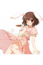 Touhou Project Inaba Tewi Pink Cosplay Costume