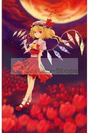 Touhou Project Flandre Scarlet Red Dress Cosplay Costume