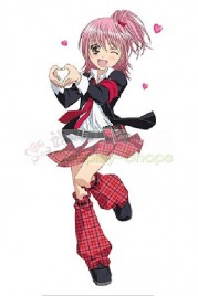 Shugo Chara Hinamori Amu Black and Red School Uniform Cosplay Costume