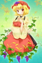 Touhou Project Aki Minoriko Blond Bottom Curl Cute Short Cosplay Wig