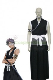 Bleach 9th Division Lieutenant Hisagi Shuuhei Black Cosplay Costume
