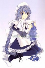 Chobits Yuzuki White and Blue Maid Cosplay Costume