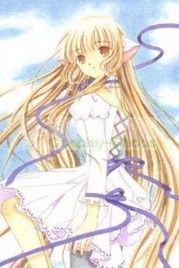 Chobits Chii White Pompon Dress Cosplay Costume