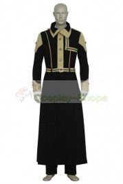 D.Gray Man Cross Marian Uniform Cosplay Costume Black And Yellow