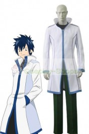 Fairy Tail Gray Fullbuster Cosplay Costume White