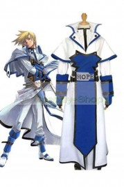 Guilty Gear Ky Kiske Cosplay Costume White and Blue