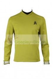 Star Trek Beyond Sulu / Kirk Commander Uniform Yellow Cosplay Costume
