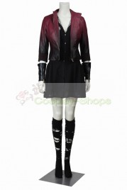 The Avengers 2 Age of Ultron Scarlet Witch Wanda Maximoff Cosplay Costume