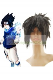 Naruto Uchiha Sasuke Medium Black Cosplay Spike Wig