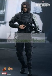 Captain America The Winter Soldier James Bucky Barnes / Winter Soldier Cosplay Costume