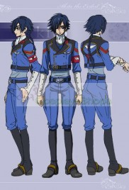 Code Geass GAIDEN Akito Adjutant Uniform Cosplay Costume