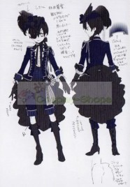 Black Butler Musical Ciel Phantomhive Cosplay Costume