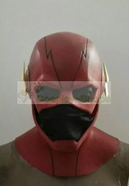 CW flash tv series - The Flash Barry Allen Flash Cosplay Rubber Helmet Cowl