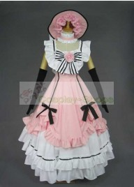 Black Butler Ciel Pink Dress Cosplay Costume