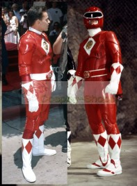 Power Rangers Mighty Morphin MMPR movie version Red Ranger Cosplay Costume