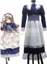 Axis Power Hetalia Byelorussia Natasha Alfroskaya Dark Blue Cosplay Costume