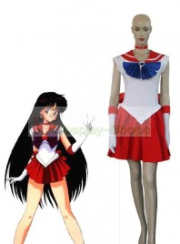 Sailor Moon Rei Hino/Sailor Mars Red Uniform Cosplay Costume