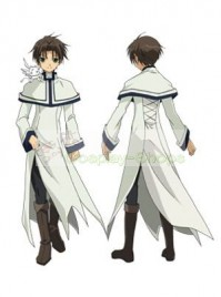07 Ghost Teito Klein White Cosplay Costume