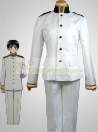 Axis Power Hetalia Janpanse Uniform White Cosplay Costume