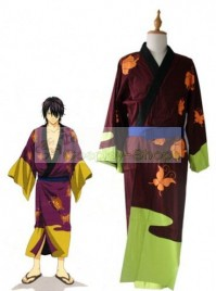 Gintama / Silver Soul Takasugi Shinsuke Cosplay Costume Brown