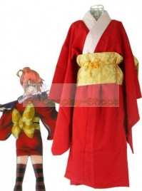 Gintama / Silver Soul Kagura Version 4 Cosplay Costume Red
