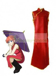 uzumaki kushina Kagura Version 2 Cosplay Costume Red