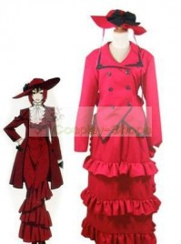 Black Butler Angelina Dulles Cosplay Costume Red