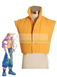 Street Fighter Charlie Nash Yellow Vest Cosplay Costume