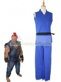 Street Fighter Akuma Adult Blue Cosplay Costume
