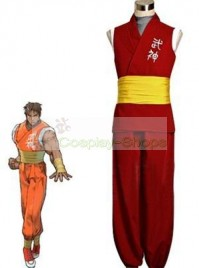 Street Fighter Zero 3 / Alpha Guy Red Cosplay Costume