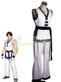 The King of Fighters(KOF) Kim Kap Hwan White Cosplay Costume