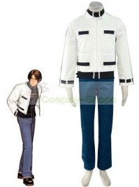The King of Fighters(KOF) 98 Kyo Kusanagi White Cosplay Costume