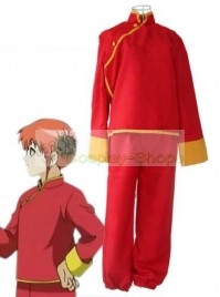 Gintama / Silver Soul Kagura Version 1 Cosplay Costume Red