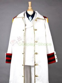 One Piece Monkey.D.Kapu Uniform Cloth Cosplay Costume White