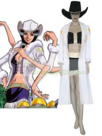 One Piece Nico Robin Cosplay Costume White Black